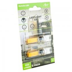 LED Stiftsockellampe Leuchtmittel Glühbirne Ersetzen ART G9 3W 2900K warm-weiß 2 Stück 9172