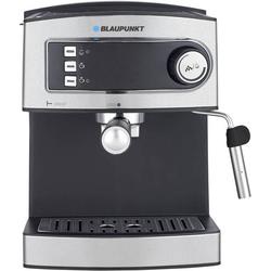Blaupunkt CMP301 Kaffeemaschine Schwarz/Silber mit Druckbrühsystem, mit Milchaufschäumdüse