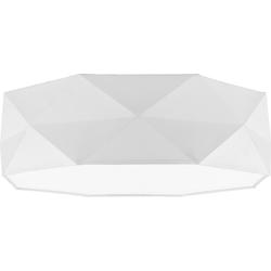 Licht-Erlebnisse Deckenleuchte ELLA Weiße Deckenleuchte zeitlos dezent Wohnzimmerbeleuchtung Lampe
