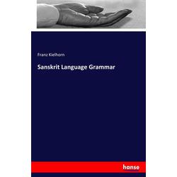 Sanskrit Language Grammar als Buch von Franz Kielhorn