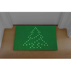 Polarlite PDE-05-002 Fußmatte mit Beleuchtung Fußmatte Weihnachtsbaum LED Grün