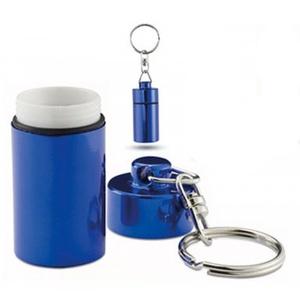 2 Pillenbox Schlüsselanhänger Pillendose Tablettendose Medikamentendose Blau