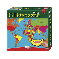 AMIGO 00381 GEOPUZZLE - WELT Puzzle Mehrfarbig