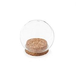 Glaskugel mit Korkboden, 8 cm Ø