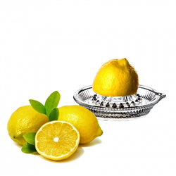 Zitronenpresse aus Glas mit Ausgießer - manuelle Zitronen Presse - Zitruspresse Orangenpresse
