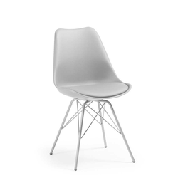 Stuhl Set mit Schalensitz in Hell Grau gepolstert (4er Set)