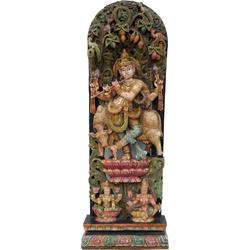Guru-Shop Dekofigur Antike Holzskulptur XXL, Wand Dekoration -..