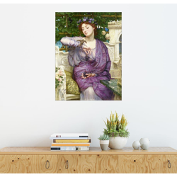 Posterlounge Wandbild, Lesbia mit ihrem Spatzen 30 cm x 40 cm