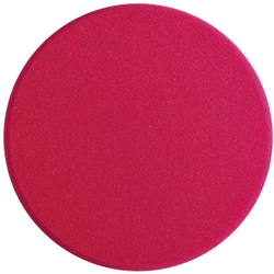 SONAX PolierSchwamm (hart) SchleifPad, Ø 200 mm, Harter feinporiger Schwamm zum maschinellen Schleifpolieren, Farbe: rot