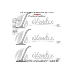 eVendix Staubsaugerbeutel Staubsaugerbeutel kompatibel mit Rowenta RU 520 S (R), 10 Staubbeutel ähnlich wie Original Rowenta Staubsaugerbeutel ZR-804, passend für Rowenta
