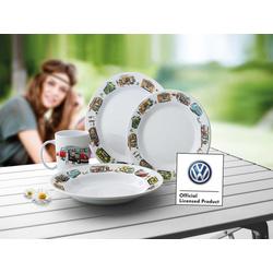 VW Collection Melamin Geschirr mit VWT1 & T2 Motiven