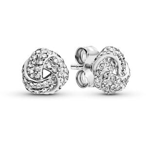 Pandora Damen Schimmernde Knoten Ohrstecker Sterling Silber Cubic Zirkonia 290696CZ