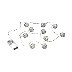 BUTLERS ORIENTAL LIGHTS LED Metallball Lichterkette 10 Lichter
