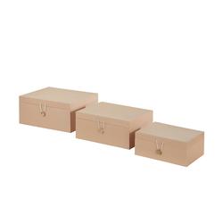 Basispreis* Aufbewahrungsboxen, 3er-Set ¦ beige ¦ Papier ¦ Maße (cm): B: 33,2 H: 14,8 T: 25,2