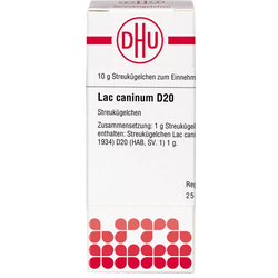 LAC CANINUM D 20 Globuli 10 g