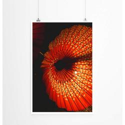 Sinus Art Poster 60x90cm Poster Künstlerische Fotografie – Asiatische Sonnenschirme