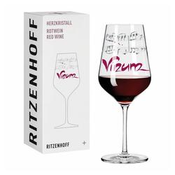 Ritzenhoff Rotweinglas Herzkristall Rotwein 002, Kristallglas, Made in Germany bunt