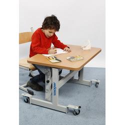 MÖCKEL® ergo S 52 ergonomischer Tisch für Kinder, Hellbraun, 80 x 60 cm