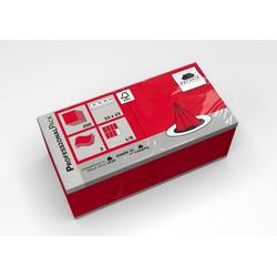 Fasana Papierserviette Serviette 33 x 33 cm 3 Lagig 1/8 Falzung rot, (250 St)
