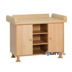 Wickelkommode aus Holz - 2 Plätze h17502