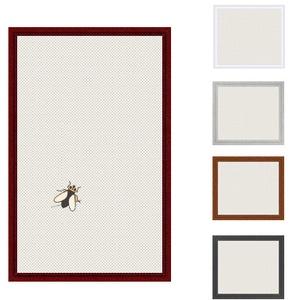Insektenschutz Spannrahmen, Fliegengitter für Fenster, fertig auf Mass, als Bausatz, in braun
