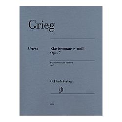 Klaviersonate e-Moll op.7. Edvard - Klaviersonate e-moll op. 7 Grieg  - Buch