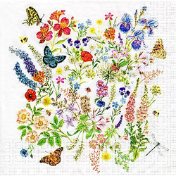 "Papierservietten ""Blumenwiese"", 33 x 33 cm, 20 Stück"