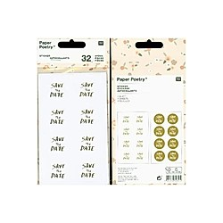 Sticker, Save Date, Gold