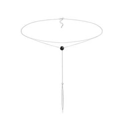 Elli Collierkettchen Choker Y-Layer Swarovski® Kristalle 925 Silber