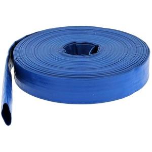 GT Market Flachschlauch PVC - Bauschlauch - Industrieschlauch - Betriebsdruck 2 bar - blau - Innen- Durch. 25 mm (1 Zoll) Länge 10 m