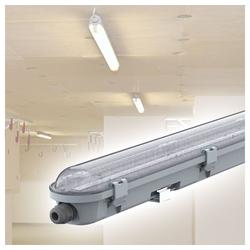etc-shop Außen-Deckenleuchte, LED Deckenleuchte Feuchtraum 60 cm Feuchtraumwannenleuchte LED 60 cm Garagenlampe LED Röhre, Reihenschaltung, 1x LED 18 Watt 2160 Lumen kaltweiß