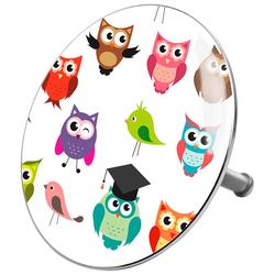 SANILO Stöpsel Owl, für Badewannen und Duschen, Ø 7,2 cm bunt