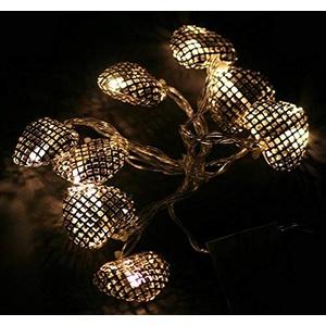 LED-Lichterkette Herzen, 8St 4cm 1,6m silber Dekoherzen Deko-Lichterkette