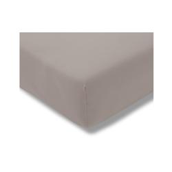 Estella Spannbettlaken Fein Jersey in kiesel, 200 x 200 cm