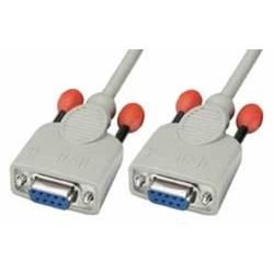 Lindy 31579 Nullmodem-Kabel 9 pol. Kupplung/Kupplung 10m