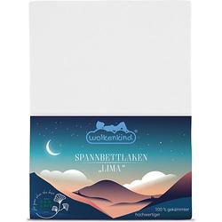 Spannbettlaken aus Bio-Baumwolle LIMA Bettlaken weiß Gr. 70 x 140