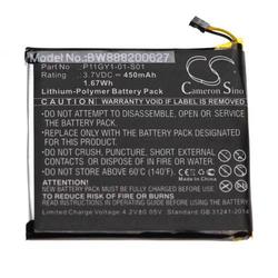 vhbw Akku Ersatz für Nest 3701-0001-01, P11GY1-01-S01 für Energiespar-Thermostat (450mAh, 3.7V, Li-Polymer)