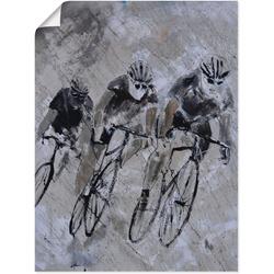 Artland Wandbild Fahrrad fahren im Regen, Fahrräder (1 Stück) 60 cm x 80 cm