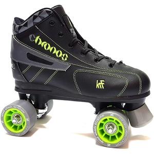 KRF Kinder Eishockey Chronos Rollschuhe, Roller Figure Quad, Black, 38