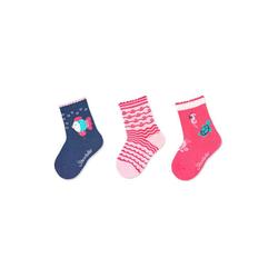 Sterntaler® Socken Söckchen 3er-Pack Fisch blau 18
