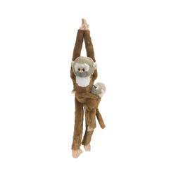 WILD REPUBLIC  Kuscheltier Hanging Monkeys Totenkopfaffe mit Baby 51cm
