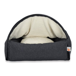 Sleepy Fox® Kuschelhöhlen Hundebett, M, 75 x B 85 x H 55 cm, grau