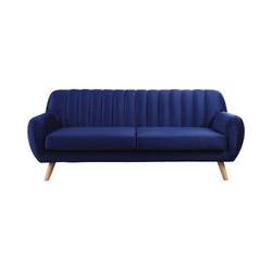 Sofa aus Samt Jarvis im skandinavischen Stil