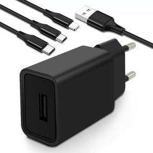 AKNICI USB Ladegerät mit 3 in 1 Multi USB Kabel, 5V 2A Ladeadapter USB Netzteil mit 1,2M Universal USB Ladekabel Mehrfach für Smartphone, iPhone, iPad, Samsung Galaxy, LG, Huawei, XiaoMi, Moto, Sony