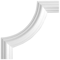 HOMESTAR Zierleiste Bogen BI 40, 4-tlg. Set, passend zur Zierleiste I 40, Ø 240 mm weiß