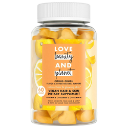 Love Beauty and Planet Multi-Benefit Vitamins Dietary Supplement - Citrus Crush – 60ct