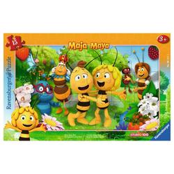 Ravensburger Rahmenpuzzle Biene Majas Welt - Rahmenpuzzle, 15 Puzzleteile bunt