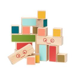 Micki Spielbausteine Mini Holz-Bauklötze, 20 Stück