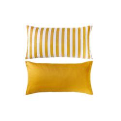 Casa Nova Kissenhülle Satin Casa Nova in gelb/weiß, 40 x 80 cm