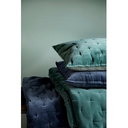 Walra Dekokissen Velvet Touch, mit gewebten Punkten grün 50 cm x 50 cm